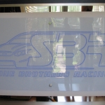 V8 Super Car Plaque (Satin Ice and Mirror Acrylic)