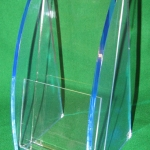 Brochure Holder Blue Edge Acrylic