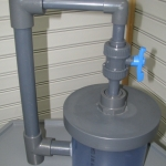 Clear PVC pressure unit with fittings