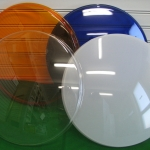 Colourful acrylic domes