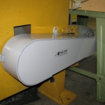 Full view of PVC Protective Guard for Band Saw