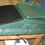 repaired PE water tank