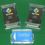 Acrylic business card holders