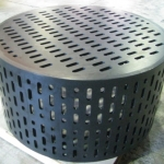 Base of large HDPE strainer with vertical holes