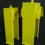 Yellow HDPE Guards
