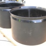 Large cylindrical polyethylene slip covers