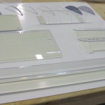 Assorted display of what polycarbonate can do