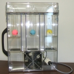 Polycarbonate air flow display unit