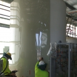 Large onsite install of Chemical Tank