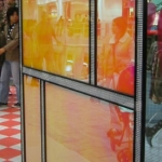 Acrylic decorative store panels of satin ice