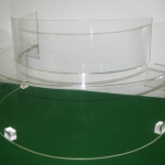Acrylic Machine Guard for viewing working parts on display
