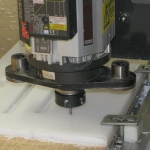 Router cutting HDPE
